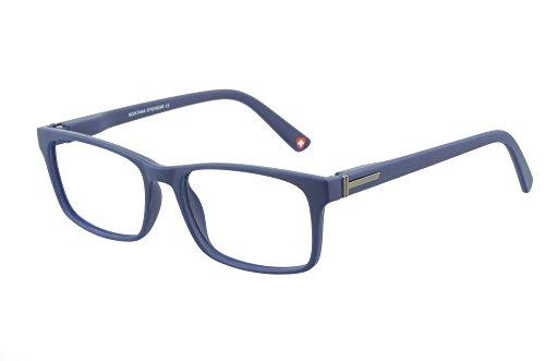 Gafas de Lectura Modernas de diseño Intelectual, Incluido Estuche de Polipiel Negra, graduaciones (Azul, 2,50 dpt)