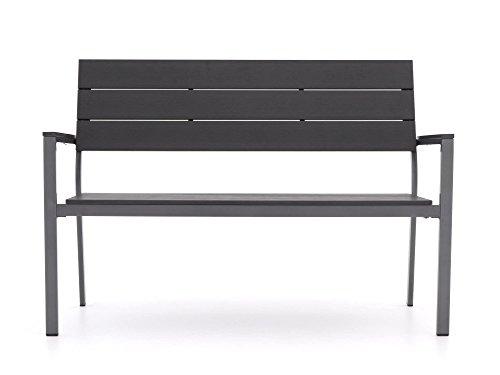 Bellagio Stabile Bravo Gartenbank 2 Sitzer | Aluminium Gartenbank 128 cm, Sitzbank für Garten oder Balkon | Wetterfest…