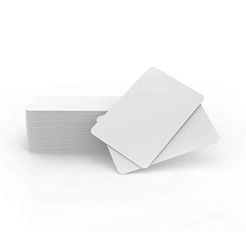 Timeskey NFC Tags 20 x Inkjet PVC NFC Karten NXP NTAG215 NFC Card Bedruckbar Kompatible Mit Epson & Canon Inkjet Drucker, CR80 30MIL, Wasserfest & Doppelseitiger Druck, Kompatible Mit Amiibo und TagMo