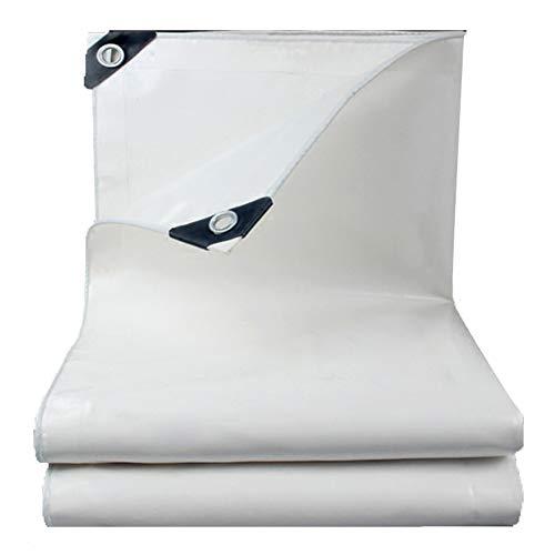 SSRS Lona for Trabajo Pesado al Aire Libre Impermeable Blanco de la protección Solar de PVC Lonas con el Metal Ojales, Personalizable Tamaño portátil, Duradero (Color : White, Size : 2X2M)