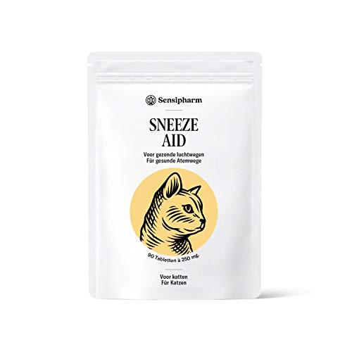 Sensipharm Sneeze Aid für Katzen 90 Tabletten - Hilft Natürlich bei Katzenschnupfen und Niesen
