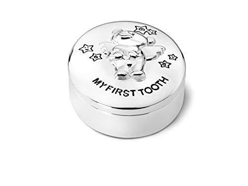 Zahndose Bär Twinkle 5,5x4,5cm versilbert anlaufgeschützt