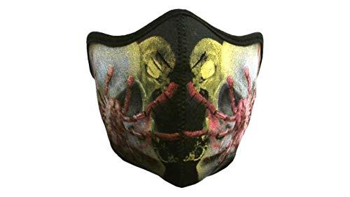kenai dark Motorrad Neopren Maske Spinne mit Feinstaubfilter, Biker Mask spider, Winddicht Staubdicht