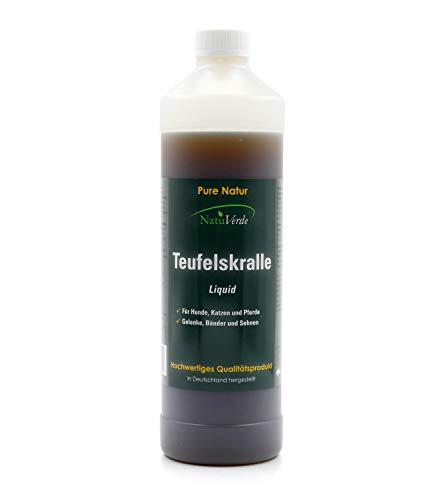 NatuVerde Teufelskralle Liquid, 1l, für Hunde, Katzen und Pferde