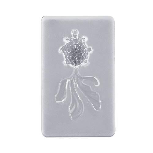 Qianqian56 DIY Handgemaakte Kristallen Epoxy Klei Vorm Squid Goudvishars met Ring AB Lijm Oorbellen Hanger maken Silicone Mallen