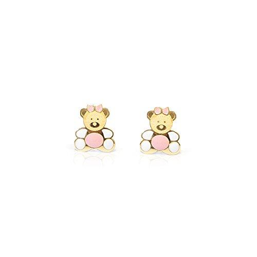 orecchini in oro bambina Monde Petit T1854PR - Orecchini per bambini