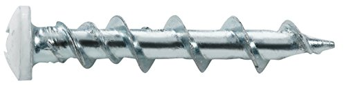 The Hillman Group 42007 3/16-Inch by 1-1/4-Inch WallDog Pan Head Phillip Screw, White (2 Packs of 20)