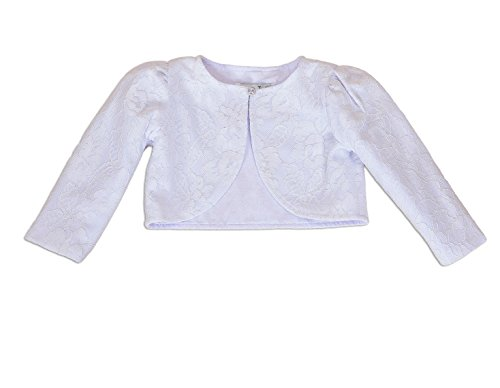 Cinda Baby Lange Hülse Bolerojacke Weiß 62-68