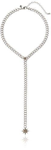 Rebecca Minkoff Stargazing Chain Silver Y-Shaped Necklace