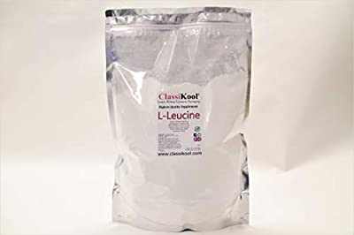 Classikool L-Leucine Amino Acid Supplement Powder for Muscle Protein & Workouts (1kg/ 1000g)