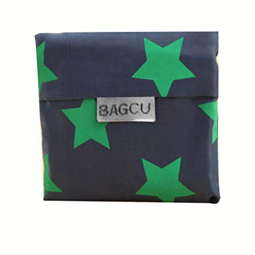 Kinshops Sacchetti della Spesa Pieghevoli del Panno di Oxford di Progettazione Stampata Floreale alla Moda Riutilizzabile Eco drogheria Borsa per Il Trasporto di stoccaggio Bag Blu Scuro