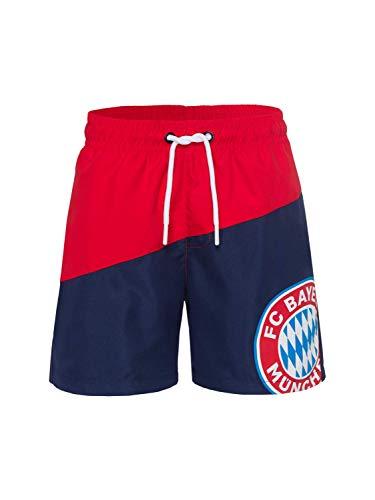 FC Bayern München Badeshort Kids rot/Navy, 164