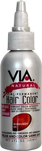Via Natural Hair Burgundy New life 084 quality assurance Color