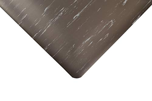NoTrax Floor Matting 511 Marble-Tuff Anti-Fatigue Safety Mat, for Home or Business 2' X 3' Black