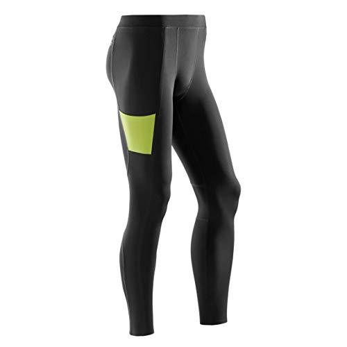 CEP – Training Tights für Herren   Lange Sporthose mit echter Kompression in schwarz/grün   Größe L
