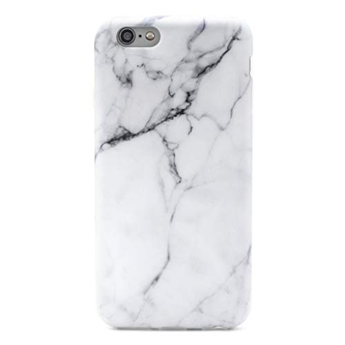 GOLINK Case for iPhone 6/6S, Slim-Fit Ultra-Thin Anti-Scratch Shock Proof Dust Proof Anti-Finger Print TPU Case for iPhone 6/iPhone 6S (4.7 inch) - Whole White Marble