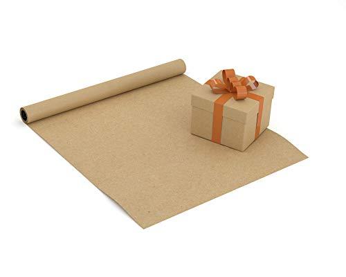 Brown Kraft Arts and Crafts Paper Roll - 48 inches by 100 Feet (1200 Inch) - Ideal for Paints, Wall Art, Easel Paper, Fadeless Bulletin Board Paper, Gift Wrapping Paper and Kids Crafts - Made in USA