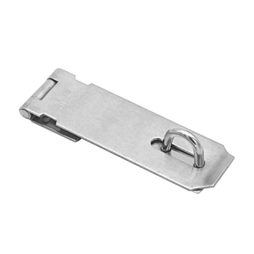 1 pcs Stainless Steel Padlock Clasp Gate Hasp Staple Door Lock Shed Latch Household Burglar-Proof Hardware,5 inch