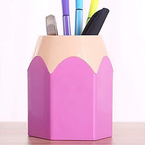 SUNTAOWAN Rotulador Creativo Olla portaescobillas Maquillaje florero lápiz Mesa de papelería AIZB Recipiente ordenado (Color : Purple)
