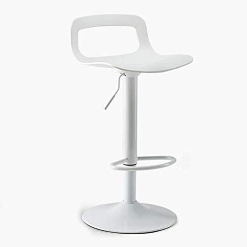 Huiseettafel kinderstoel Restaurant hoge kruk Woonkamer slaapkamer lounge stoel Bar stoeltjeslift Bar stoel Bank personeel stoel (Kleur: Wit, Maat: 39cm * 39cm * 80cm)
