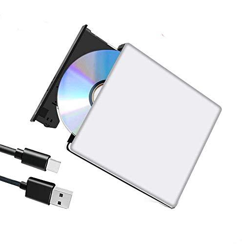 Externes Blu Ray DVD Laufwerk,USB 3.0 3D Blueray CD DVD RW Rom Player Brenner Tragbar Ultra Slim BD/CD/DVD RW Player Disc für MacBook iMac Mac OS Windows 7/8/10/Vista/XP