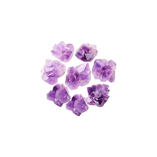 XQK Amatista Cluster Cristal Tumbled Chips Piezas de Piedra Triturada para Acuario Decorativo...