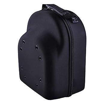 Hat Carry Case Baseball Cap Case Hat Organizer Bag Box Storage for Baseball Cap Hat Travel Case Caps Carrier Ball Caps Holder for 6 Caps Travel Hat Display Carrier Bag Black