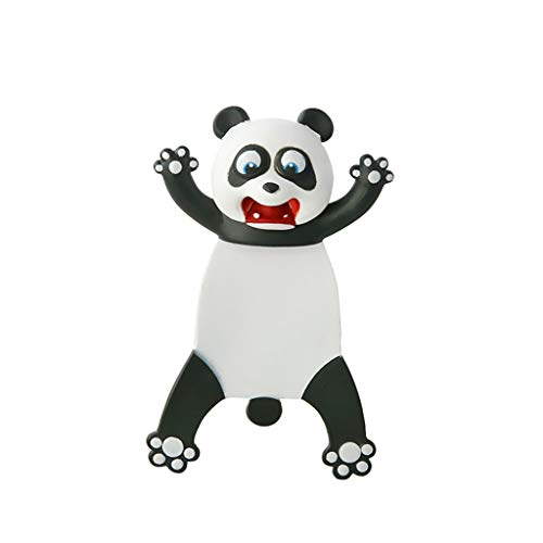 3D Funny Animal Bookmark, Wacky Funny Animal Bookmark Pals for Kids Novelty Squashed Animals Ouch Series Bookmarks, Creative Cute Stationery Birthday Christmas Gift for Kids Teens Students (Panda)