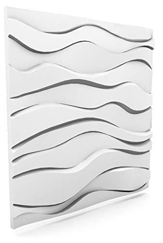 Luxury 3D Wall and Ceiling Panel Zephyr 60cm x 60cm Decorative Tile Cladding (32 Panels (11.52 m²))