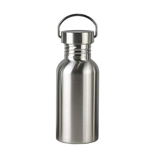 Botella de agua de acero inoxidable de 500 ml, elegante, aislante, mantiene el calor y el frío, a prueba de fugas, tapas sin BPA, a prueba de sudor, ideal para viajes, picnic, camping
