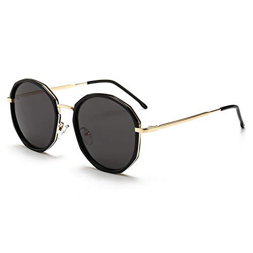 Bradoner UV400 Gafas De Sol Polarizadas Redondas for Mujer Gafas De Sol De Metal Espejo del Conductor De Conducción