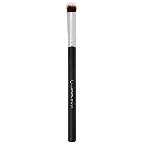 Mineral Powder Eyeshadow Makeup Brush – Small Mini Round Top Kabuki, Synthetic Dome Smudge Eye Shadow Brushes for Blending Smoky Eye, Setting Concealer Liquid Cream Cosmetics, Cruelty Free