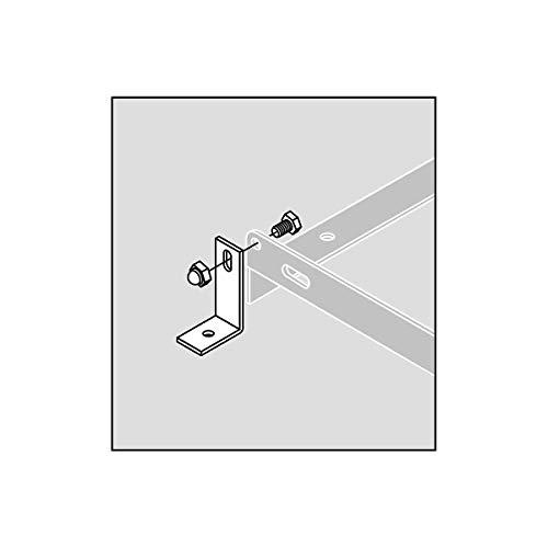 Bodenmontage-Winkel,verzinkt für Fahrradständer