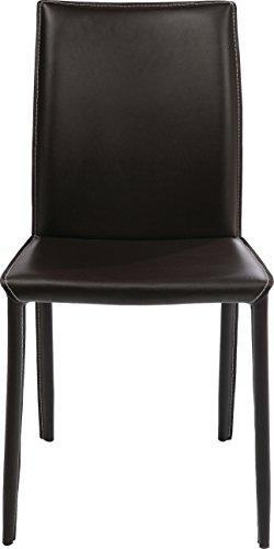 Kare, Milano Brown, 74638, bequemer, moderner Esszimmerstuhl, coffeebraun, 91x47x61cm