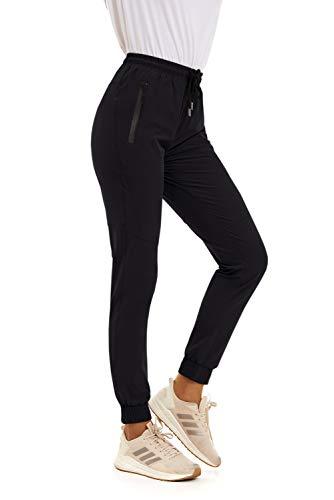 SMENG Quick Dry Lightweight Black Cargo Pants Women Running Apparel Slim fit Joggers Water Resistant Drawstring Sweatpants Legging Depot Black M