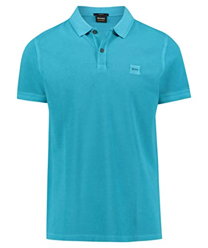 BOSS Slim-Fit Poloshirt Prime aus gewaschenem Baumwoll-Piqué Open Blue 491 (XXL)