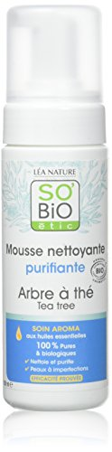 So'Bio étic Mousse Nettoyante Purifiante Arbre a Thé 150 ml