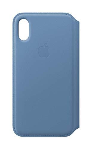 Apple Leren Folio-hoesje (voor iPhone XS) - Korenbloemblauw