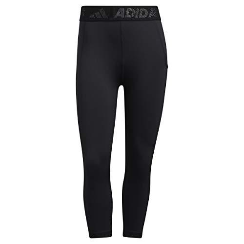 adidas GL0691 TF 3/4 3 Bar T Leggings Donna Black/White XS