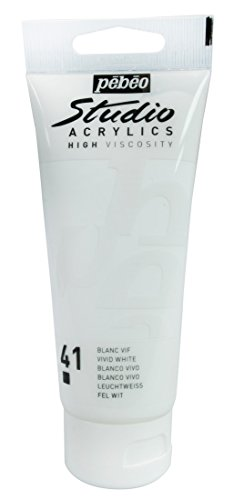 Pébéo 837041 Studio Acrylique Tube Blanc Vif 100 ml
