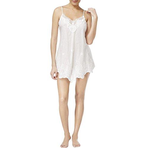 Linea Donatella Womens Festival Embroidered Lingerie Chemise White XL