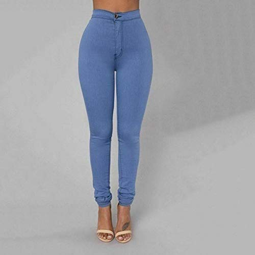 AOZLOVEC Leggings Mujer Fitness Casual Lápiz Pantalones Pantalones Ropa Leggins Gym Legins Anti celulitis XXXL blueleggings
