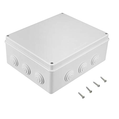 Awclub ABS Plastic Dustproof Waterproof IP65 Junction Box Universal Electrical Project Enclosure White 11.8'x9.8'x4.7'(300mmx250mmx120mm)