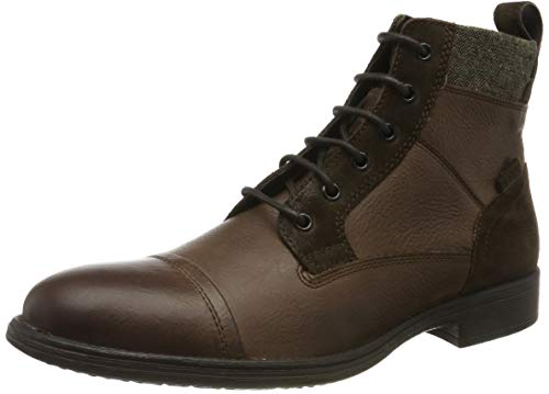 Geox Herren U JAYLON E Klassische Stiefel, Braun (Dk Coffee C6024), 41 EU