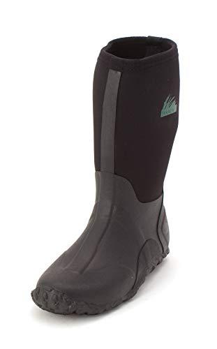 Itasca Unisex-Kid's Youth Bayou Waterproof Boot with Neoprene and Rubber Upper Rain, black, 1 Standard US Width US Little Kid