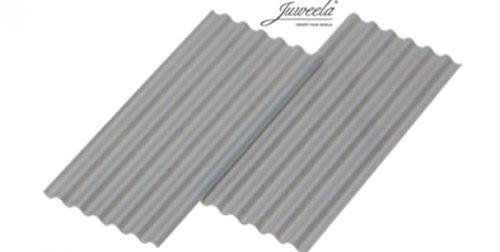 Juweela 23259 Wellplatte 'Faserzement' grau 30 Stk.