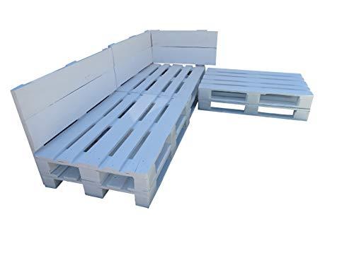 Conjunto de palets para zona Chill Out & Piscina & Jardín & Interior & Exterior formado de 3 cuerpos (3 sofas)