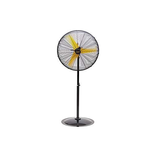 Standely Staande ventilator, 300 W, voet of vloer, 3 snelheden, draaibaar, hoge kwaliteit, staal, veiligheidsrooster