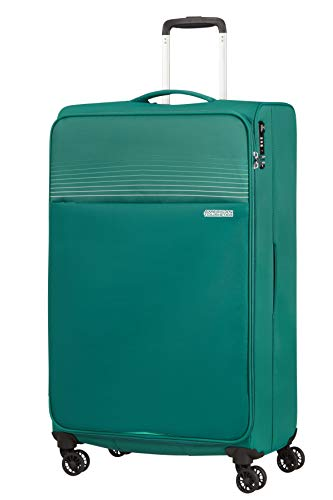 American Tourister Lite Ray Equipaje- Maletas, Spinner XL (81 cm - 105 L), Forest Green
