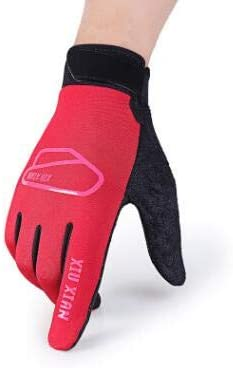 Autumn and Winter Men and Women's Thicken Warm Touch Screen Gloves Male Winter Elastic Breathable Riding Sports Glove R089 - (Color: D red, Gloves Size: Women)